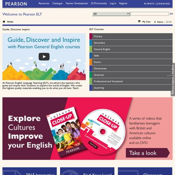 PearsonELT.com - classroom resources, product catalogue and professional development for English language teachers