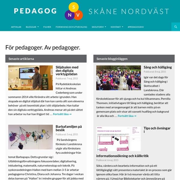 Pedagogsajt för pedagoger i Skåne nordväst