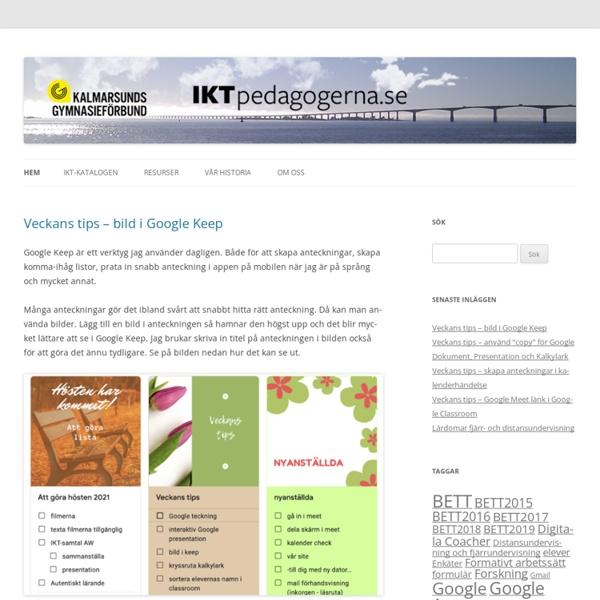 En blogg av IKT-pedagogerna i Kalmarsunds Gymnasieförbund