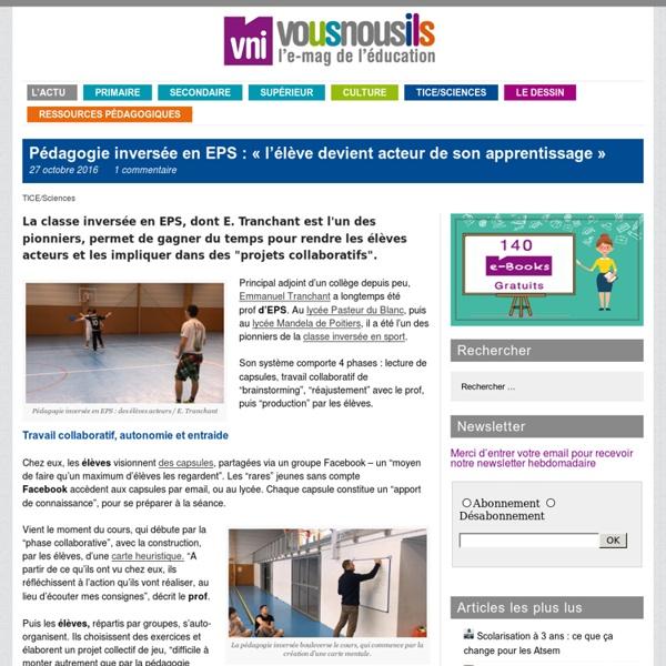 Pédagogie inversée en EPS : «l'élève devient acteur de son apprentissage»