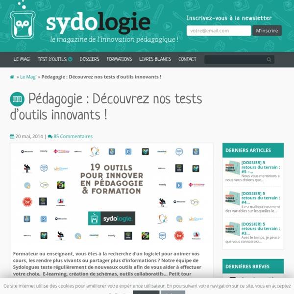 Pédagogie : Découvrez nos tests d'outils innovants ! - Sydologie