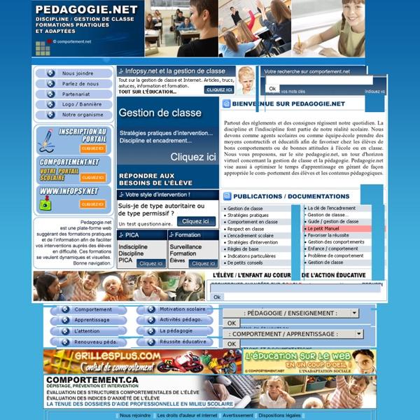 Pédagogie et gestion de classe