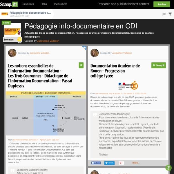 Pédagogie info-documentaire en CDI
