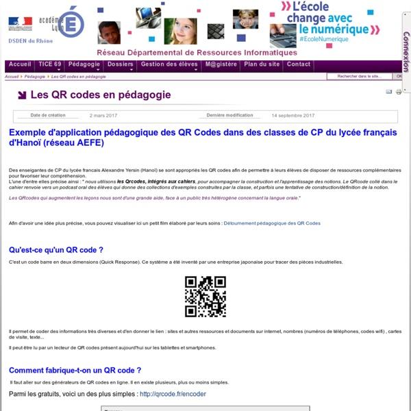 Pédagogie - Les QR codes en pédagogie