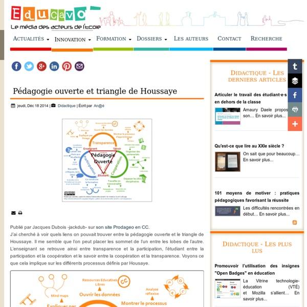 Pédagogie ouverte et triangle de Houssaye