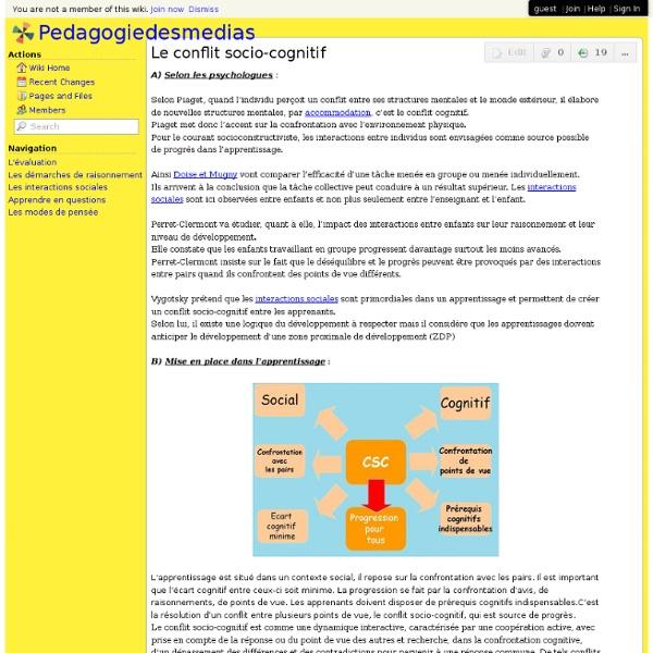 Pedagogiedesmedias - Le conflit socio-cognitif