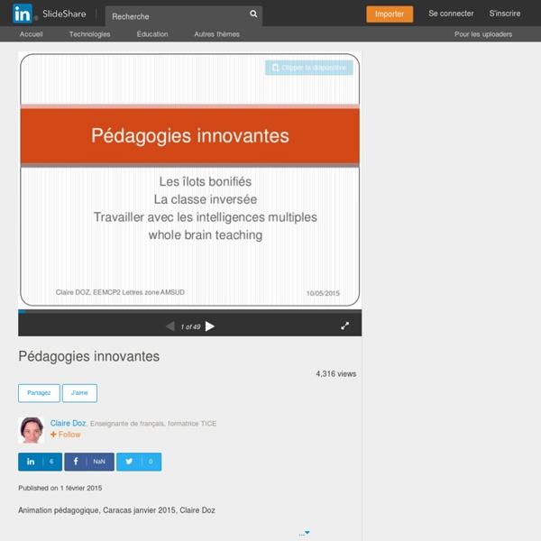 Pédagogies innovantes