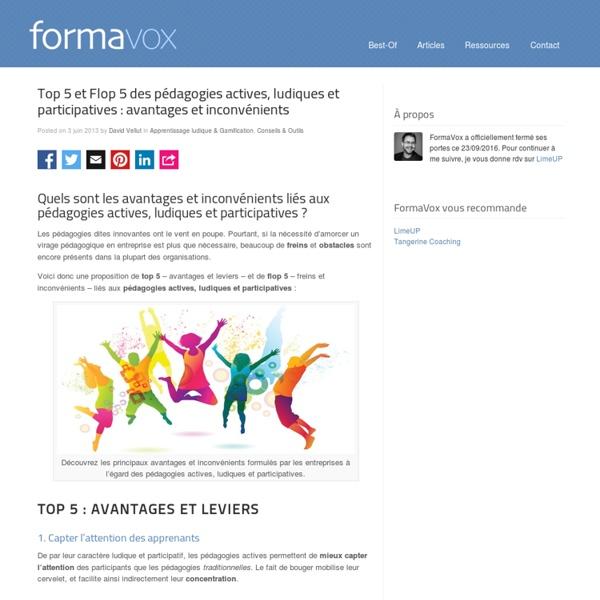 Top 5 et Flop 5 des pédagogies actives, ludiques et participatives