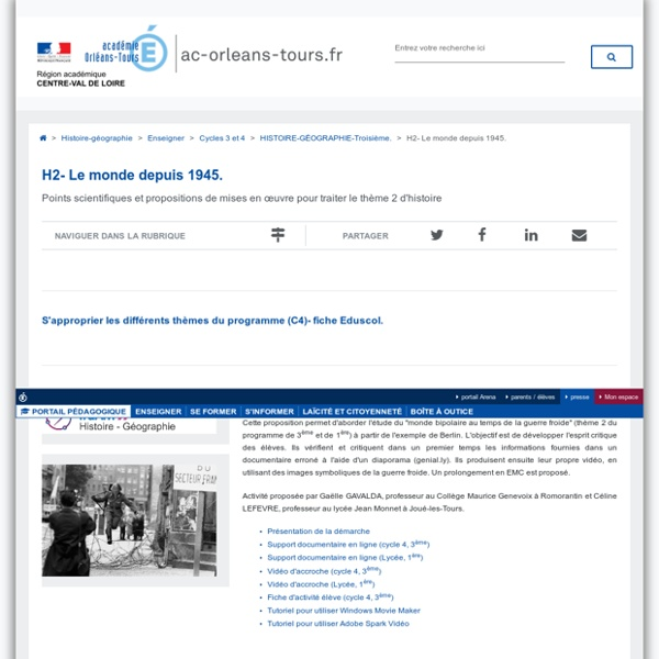 Faire parler les images de la guerre froide - Académie d'Orléans-Tours