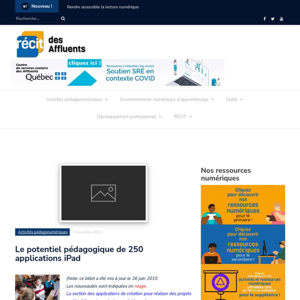 Le potentiel pédagogique de 250 applications iPad