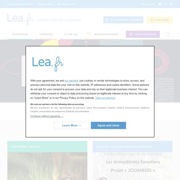 Lea.fr. Rejoignez le Réseau pédagogique et collaboratif pour les enseignants de l'école primaire.