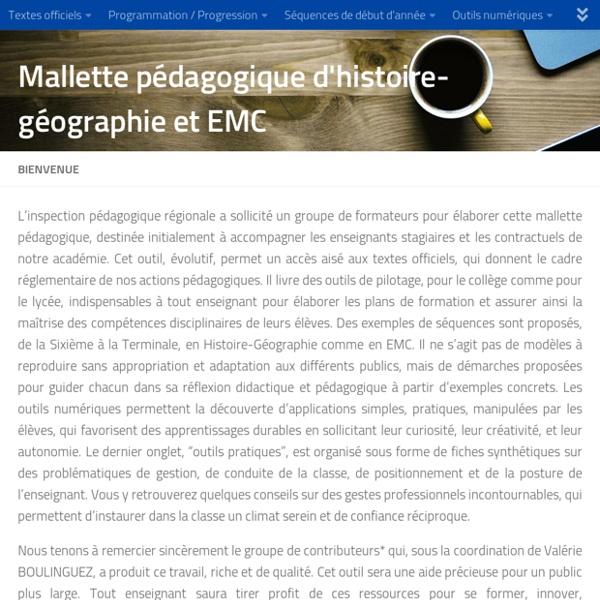 Mallette pédagogique d'histoire-géographie et EMC – A destination des enseignants stagiaires et contractuels