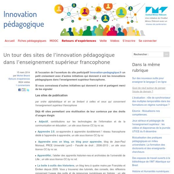 Un tour des sites de l'innovation pédagogique dans l'enseignement supérieur francophone