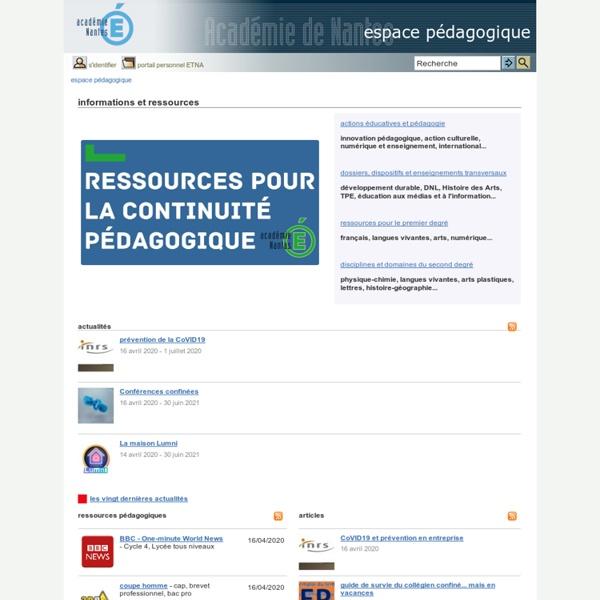 Espace pédagogique - informations et ressources