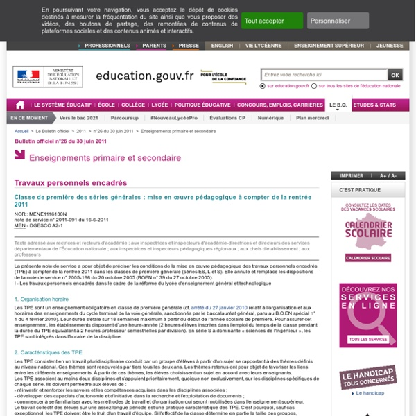TEP Bulletin officiel n°2011