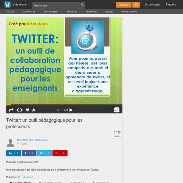 Twitter: un outil pédagogique pour les professeurs