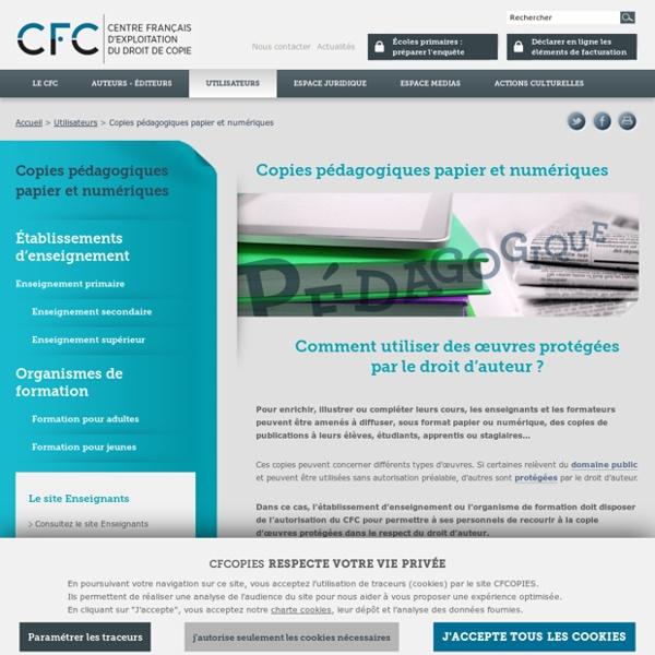 Copie pédagogique - CFC, gestion des droits de reproduction