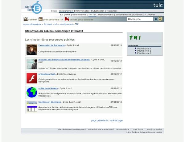 Espace Pédagogique - opération TBI : usages de tableaux blancs interactifs