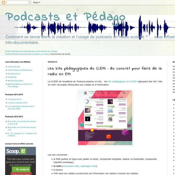 Les kits pédagogiques du CLEMI : du concret pour faire de la radio en EMI