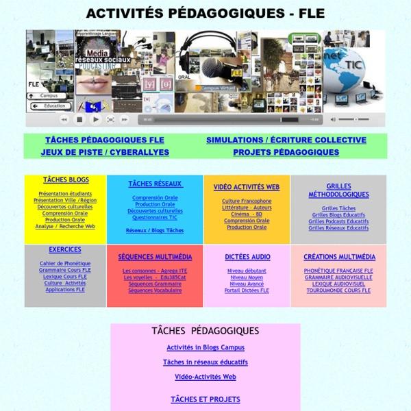 Activités pédagogiques FLE, tâches, cybeRallyes, scénarios, webquests