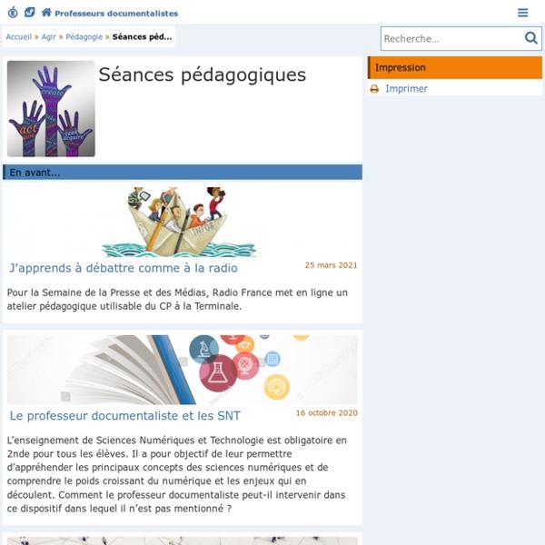 Séances pédagogiques - Doc'Poitiers - Le site des professeurs documentalistes