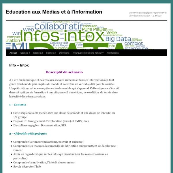 Scénarios pédagogiques en partenariat avec la documentation