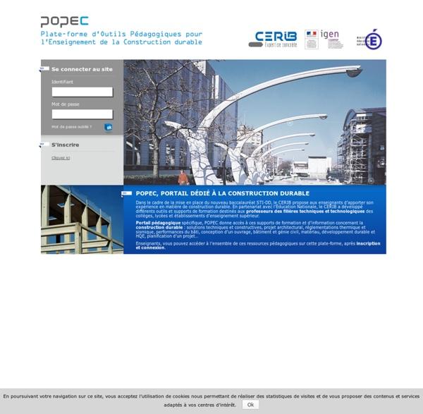 Plate-forme d'Outils Pédagogiques pour l'Enseignement de la Construction Durable