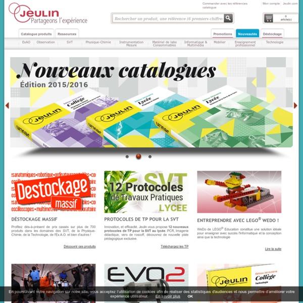 Jeulin - Editeur de solutions pédagogiques pour l'enseignement scientifique et technique