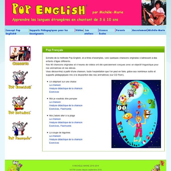 Supports pédagogiques pour enseigner le français aux enfants avec Pop Français
