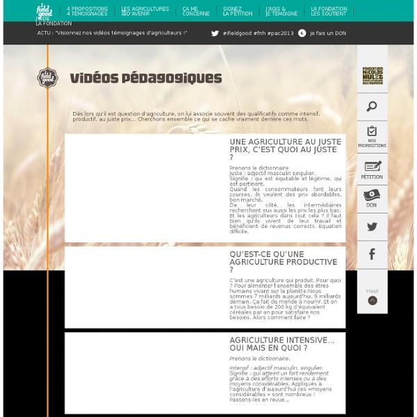 Vidéos pédagogiques - Fondation Nicolas Hulot