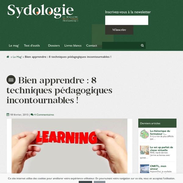 Bien apprendre : 8 techniques pédagogiques incontournables