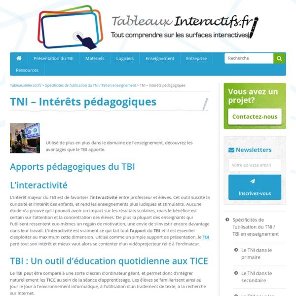 Tous les apports pédagogiques du TBI / TNI et de l'écran interactif