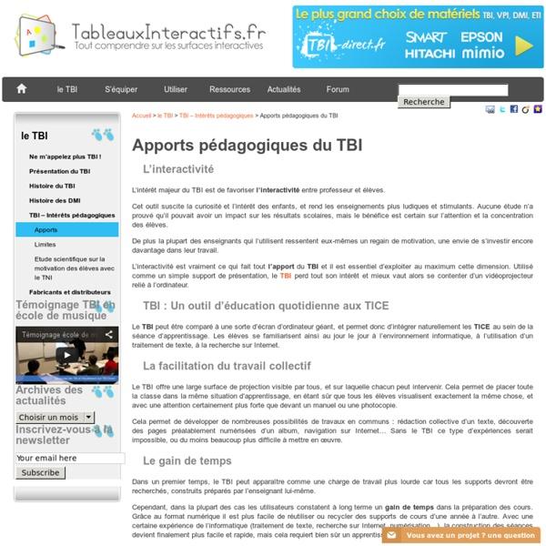 Apports pédagogiques du TBI : pourquoi utiliser le TBI en classe ?