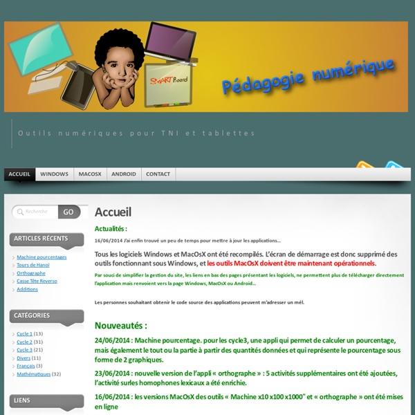 Logiciels Pédagogiques « Outils numériques pour TNI et tablettes
