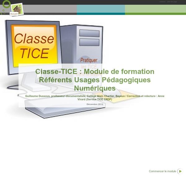 Module de formation Enseignants aux usages des TICE