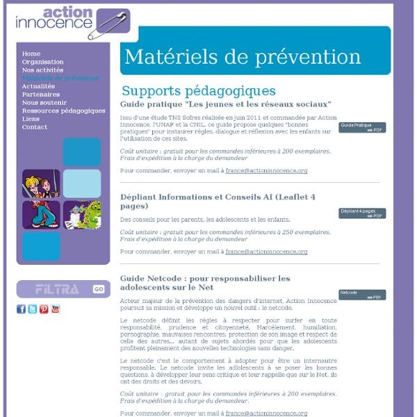Un module sur Internet : les outils d'Action innocence