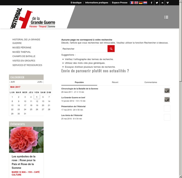 Histoire des Arts - Nos dossiers pédagogiques - Ressources à télécharger - Le service éducatif de l'Historial