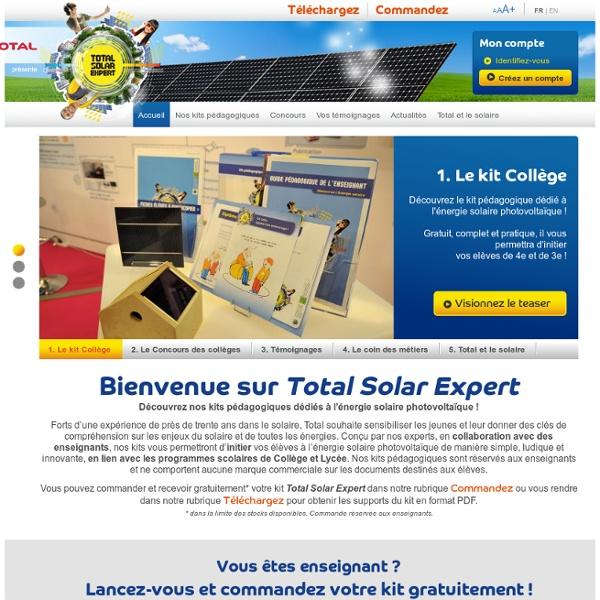 Kits Pédagogiques Solaires - Total Solar Expert