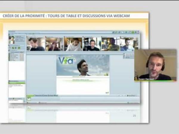 Usages pédagogiques de la classe virtuelle pour le tuteur à distance. Classilio