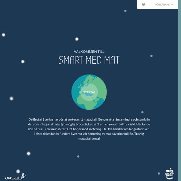 SMART MED MAT – En pedagogisk webbplats om mat och matavfall från Va Syd
