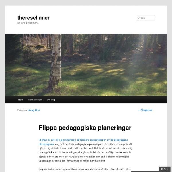 Flippa pedagogiska planeringar