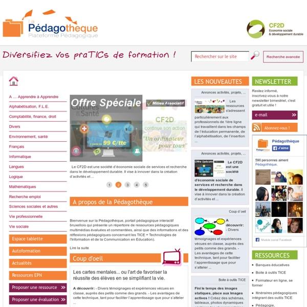 Pédagothèque.be : Plateforme pédagogique