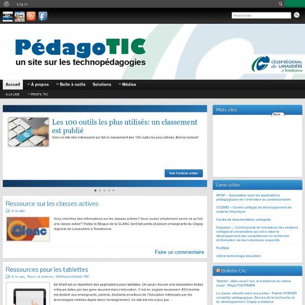 PédagoTIC » un site sur les technopédagogies