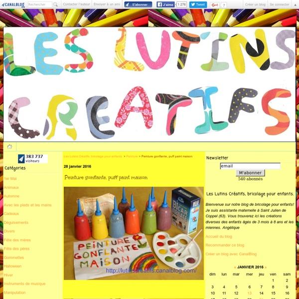 Peinture gonflante, puff paint maison - Les Lutins Créatifs, bricolage pour enfants.