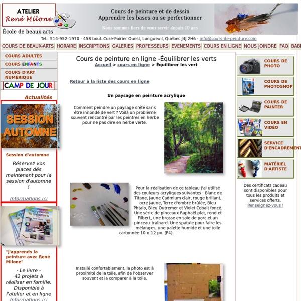 Cours de peinture en ligne gratuit - Équilibrer les verts