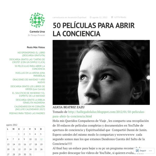 50 PELÍCULAS PARA ABRIR LA CONCIENCIA
