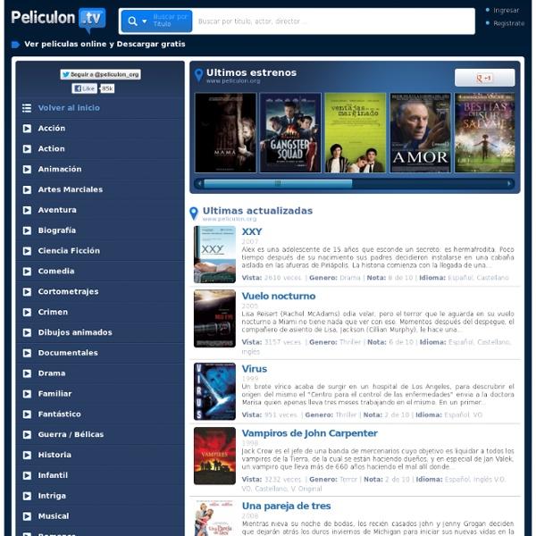 Peliculas online, Cine gratis, Estrenos online, Peliculas gratis, Ver peliculas, Ver peliculas gratis, Ver peliculas online - Peliculon.TV