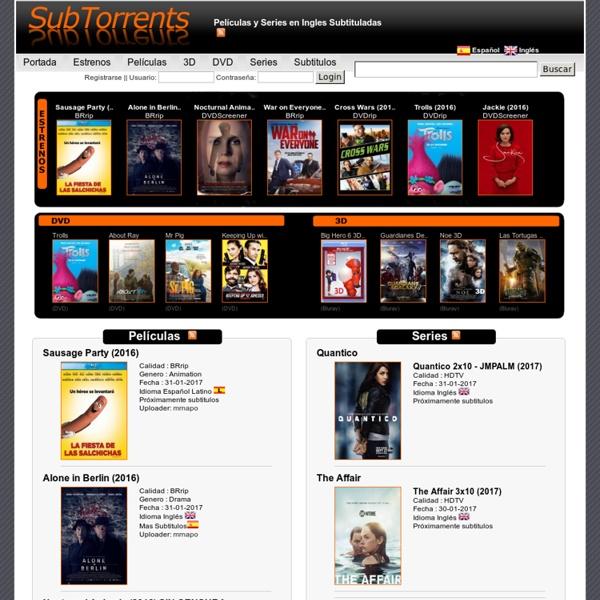 Peliculas Subtituladas y Series en Version Original - Sub Torrents