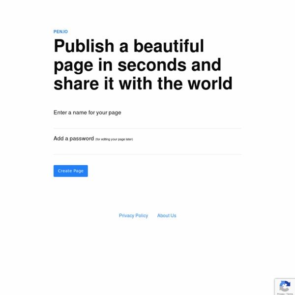Pen.io - Publish Content Online