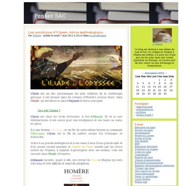 Penker 5AC - Les aventures d'Ulysse, héros mythologique.